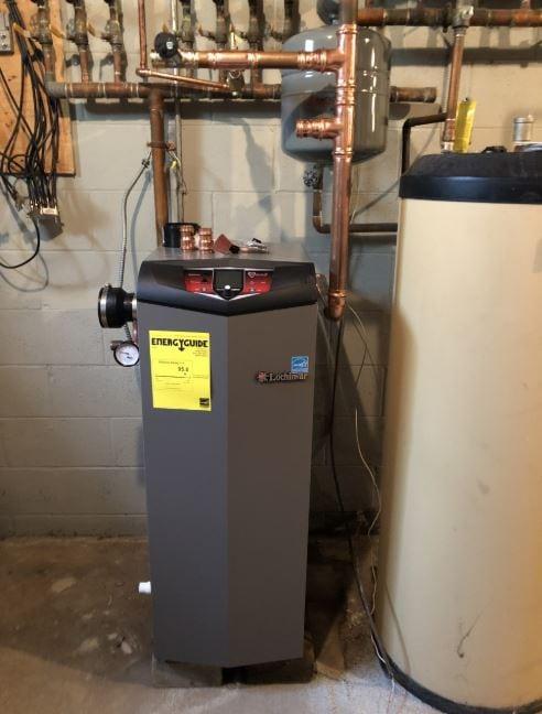 New high-efficiency gas boiler in Marmora, NJ oil-to-gas