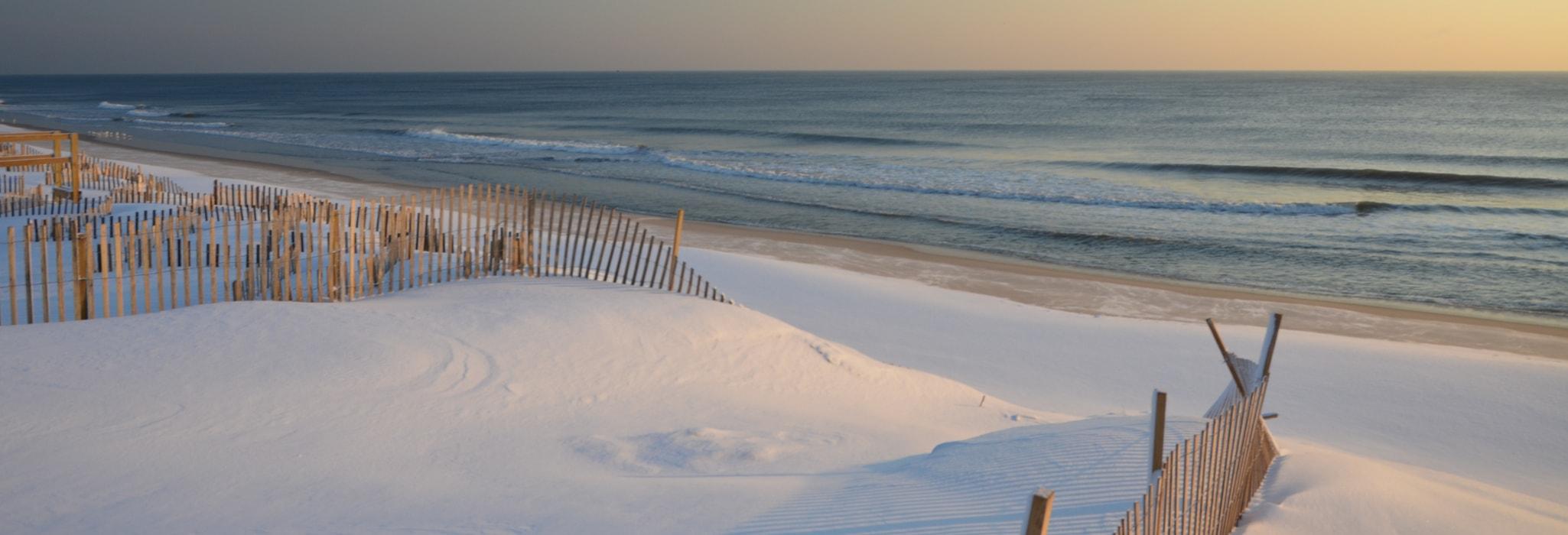 Winter on the beach.