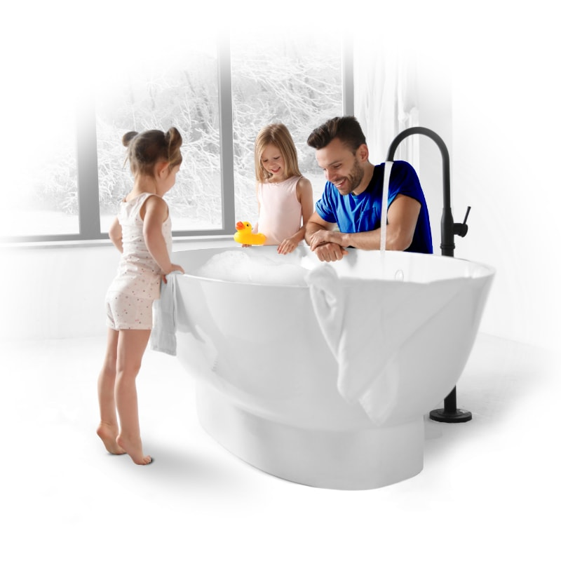 Kids in bathtub