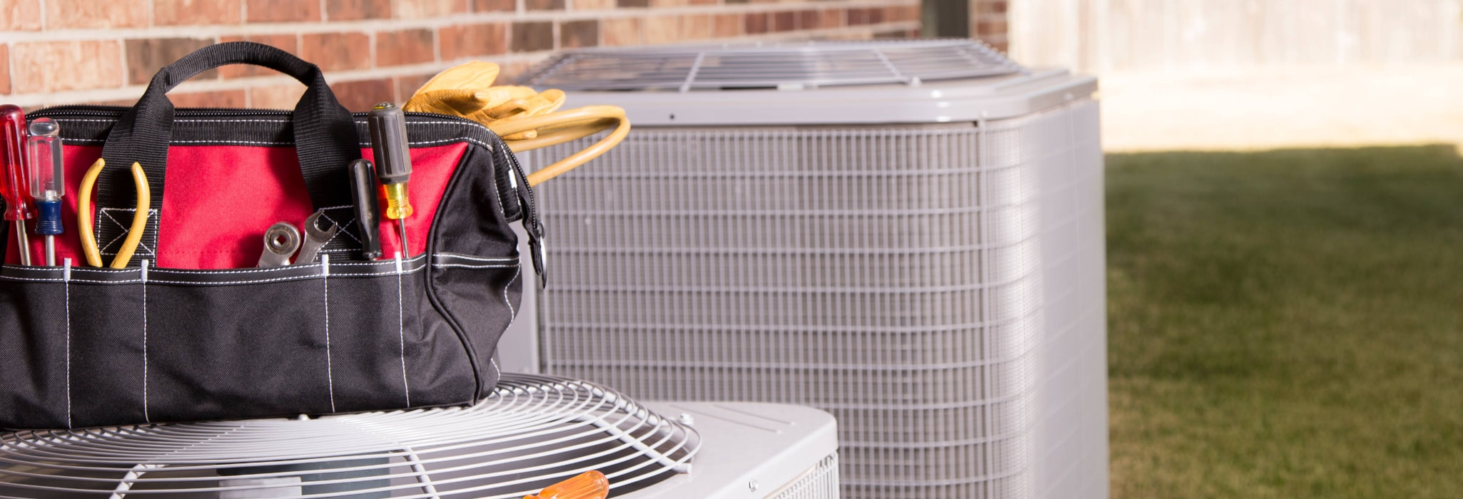 Air conditioner maintenance.
