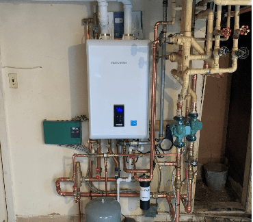 New Combi Boiler And Tankless Water Heater Installation In Ventnor, NJ